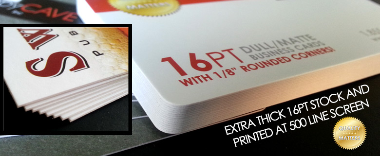 Extra thick business cards printed at 500 line screen